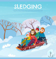 winter recreation vector image vector image