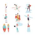 women of different professions set achievements vector image vector image