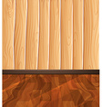 Wooden floor and wall vector image vector image