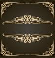 decorative golden frames vector image