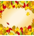 autumn colorful leaves Fall background vector image