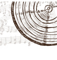 Vinyl record and music notes vector image