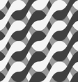 3D black and white interlocking waves vector image vector image