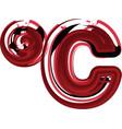 abstract celcius symbol vector image vector image