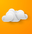 Abstract white cloud vector image vector image