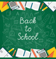 Banner back to school on the turquoise