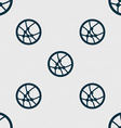 Basketball icon sign Seamless abstract background vector image vector image