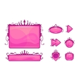 Beautiful pink game user interface vector image vector image