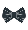 black bow icon vector image vector image