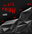 black friday sale polygonal background shopping vector image