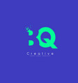 bq letter logo design with negative space concept vector image vector image