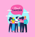 breast cancer awareness card of friend group vector image vector image