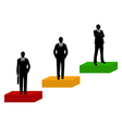 businessmen silhouette vector image vector image