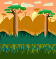 cartoon african natural landscape vector image