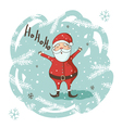 Christmas Santa greeting card vector image vector image