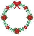 Christmas wreath elements vector image vector image