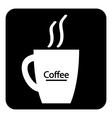 Coffee cup symbol button vector image vector image