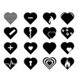 collection of heart symbol hearts vector image