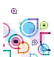 color abstract background with icons vector image vector image