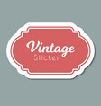 color vintage label frame for design vector image vector image