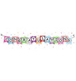 congratulations banner with bunting flags vector image vector image