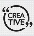 creative lettering design vector image