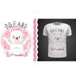 cute bear - idea for print t-shirt vector image