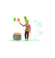 cute cartoon leprechaun vector image vector image