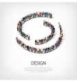 Design people sign 3d