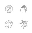 digital technology icons set ai iot hi-tech vector image vector image