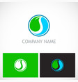 ecology abstract round company logo vector image vector image