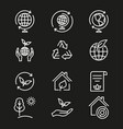 ecology - icon vector image vector image