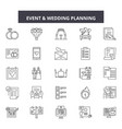 event wedding planner line icons signs vector image vector image