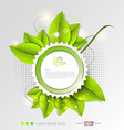 Fresh leaves background template vector image vector image