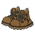 Funny leather boots vector image vector image