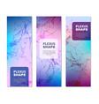 geometric plexus shapes vertical banners vector image vector image