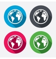 Globe sign icon World map geography symbol vector image vector image