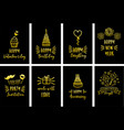 gold celebration cards set vector image vector image