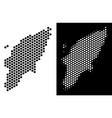 greek rhodes island map hexagon mosaic vector image vector image