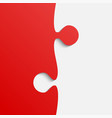 grey and red piece puzzle jigsaw vector image vector image