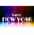 happy new year greeting with falling glitters vector image vector image