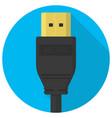 hdmi cable plug icon vector image