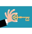 key in hand vector image vector image