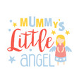 little mummys angel colorful hand drawn vector image