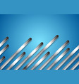 metal diagonal stripes on bright blue background vector image vector image