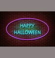 neon happy halloween text signs isolated on vector image vector image