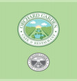 park orchard garden logo restaurant cafe vector image