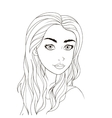 Pattern for coloring book Beautiful girl vector image
