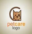 pet care logo 10 vector image vector image