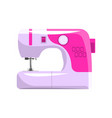 pink modern electronic sewing machine dressmakers vector image vector image
